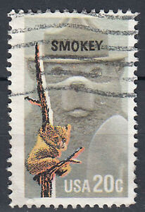 USA-Briefmarke-gestempelt-20c-Smokey-65