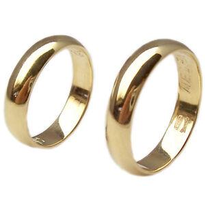 5acf050529ec Bandas de boda boda anillos para boda de oro amarillo 18 kt. pareja ...