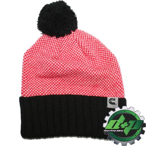 cummins dodge truck ladies beanie stocking hat ski cap toboggan earflap pom new