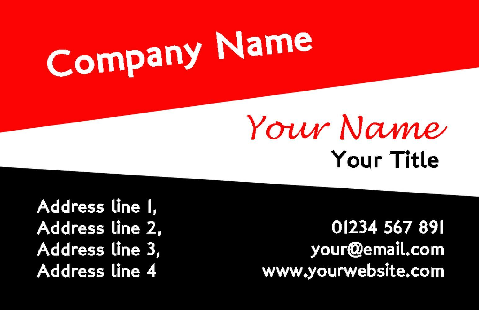 Egyptian Colours Personalised Business Cards