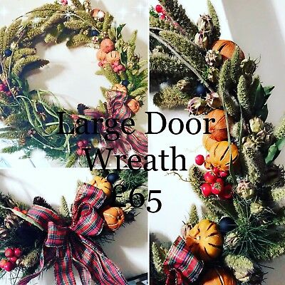 Fresh Christmas Wreaths.Fresh Christmas Wreaths Garlands Made To Order Ebay