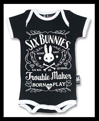 Six Bunnies Troublemaker Babygrow