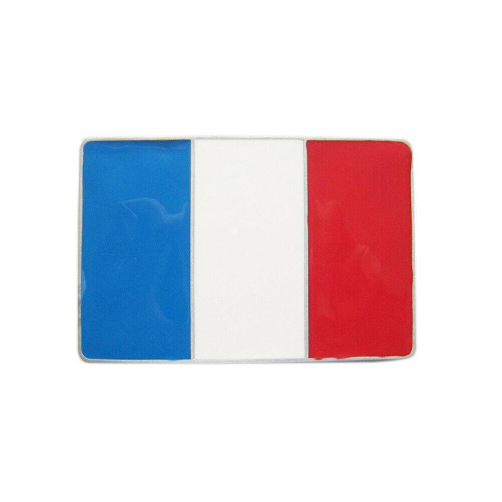 France Flag Gürtelschnalle Frankreich Französische Flagge Banner French Fahne