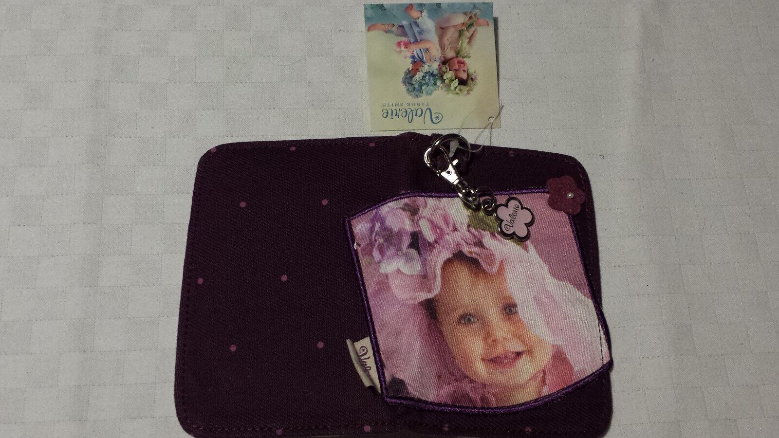 Pen door portfolio documents Valerie Tabor Smith Purple + keyring bag