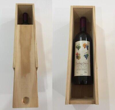 Franco Non Verniciata In Legno Vino Scatola Per 1 Bottiglie Craft Arte Decoupage Idea Regalo Presenti- Rafforzare La Vita E I Sinews