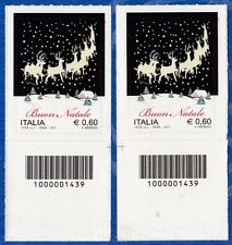 ITALIA Natale Laico Codice a Barre DX-SX Anno 2011