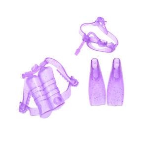 Accessori-per-l-039-immersione-Oxygen-Tank-Swim-Glasses-Feets-Suit-For-Barbie-Doll-C