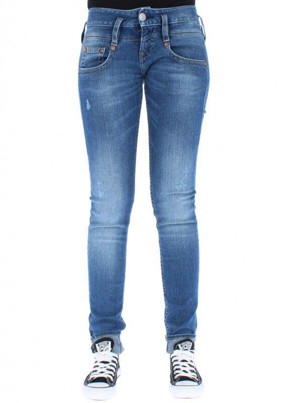 Herrlicher Women's Jeans Pitch Slim 715 mid Destroy