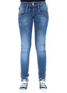HERRLICHER-Women-039-s-Jeans-Pitch-Slim-715-Mid-Destroy
