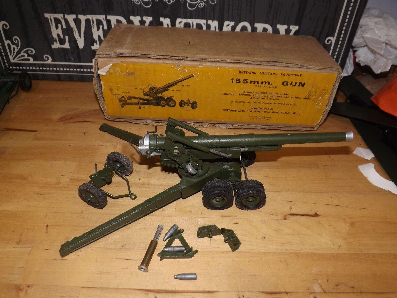 Vintage BRITAINS 155MM GUN 1 32 scale 2064 9745 excellent boxed