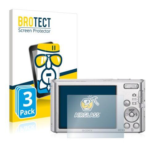 3x protector de pantalla para Sony Cyber-Shot DSC-W830 Vidrio Templado Film De Protección
