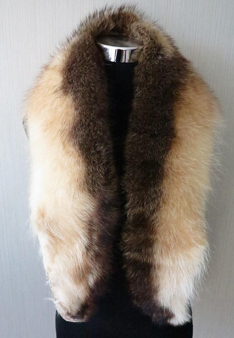 100% real American raccoon fur collar / wrap /scarf jac