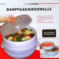 Dampfgarmikrowelle Dampfgar-Mikrowelle mit 2 Etagen Dampfgarer Microwave Steamer