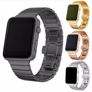 Butterfly-buckle-Bracelet-for-Apple-Watch-Band-Stainless-Steel-Strap-38mm-42mm-G