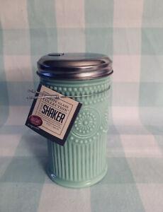 JADEITE Sugar Shaker Green Glass Collection Beaded Design