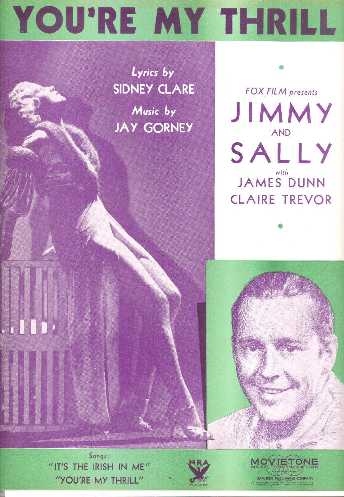 Jimmy & Sally Notenblatt   You'Re My Thrill   Claire Trevor James Dunn