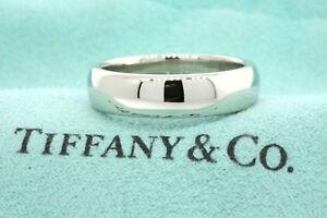 Tiffany-amp-Co-Platinum-Classic-Lucida-Wedding-Band-Ring-6mm-Size-10-5-US