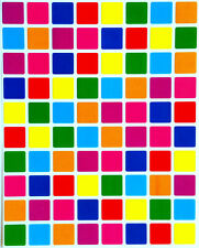 Square Colored Coding Labels Yellow Purple Green Red Blue Half Inch 1200 Pack