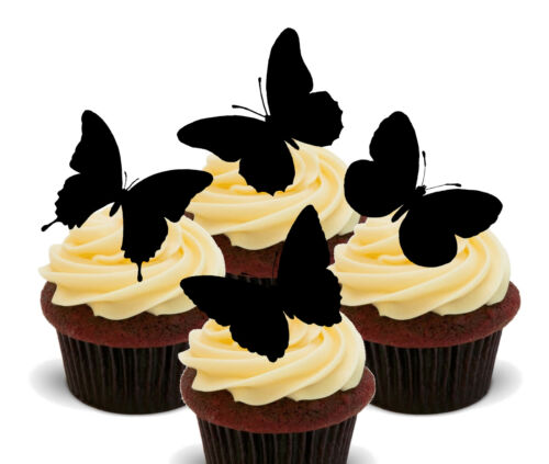 Standup Fairy Bun Decorations Butterfly Silhouettes Edible Cup Cake Toppers