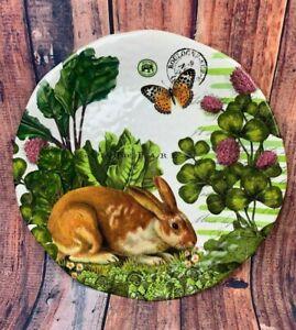 Michel-Design-Works-Melamine-Large-Round-Serving-Platter-Garden-Bunny