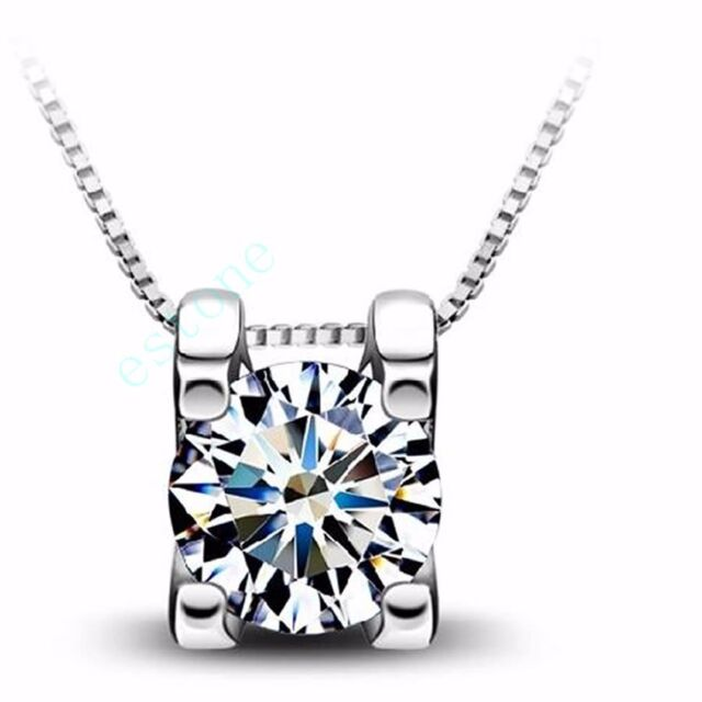 Fashion New The Only Love Chic Silver Plated Crystal Pendant AAA Cubic Zirconia