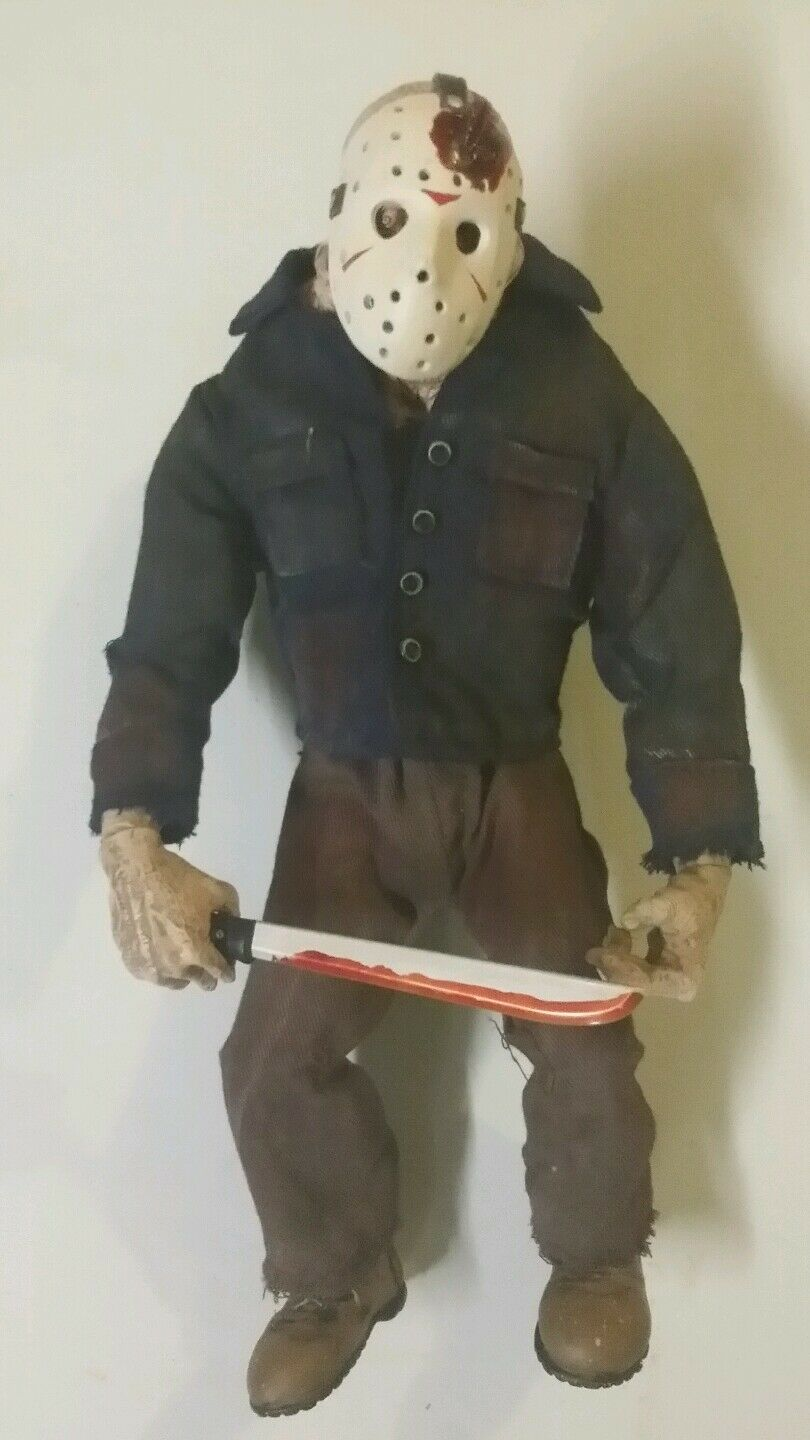 Rare Friday the 13th JASON Voorhees Mezco horror movie figure 9  Final Chapter