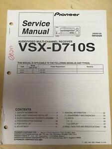 Pioneer service manual for the vsx d710s av receiver mp ebay image is loading pioneer service manual for the vsx d710s av fandeluxe Choice Image