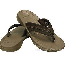 d3ae6e75a372cd Crocs Flip-Flop Mens Yukon Mesa Flips Sandals 202594 Black Brown Flip Flop
