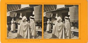 FRANCE-Paris-Exposition-Universelle-1900-Concert-Arabe-Photo-Stereo-PL60L1215