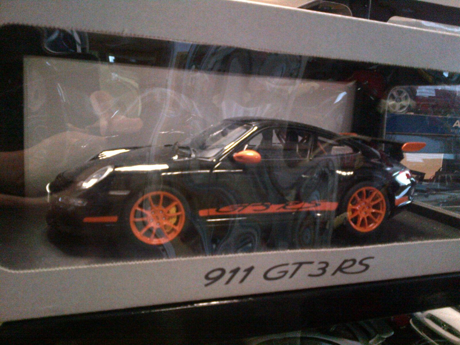 Porsche   GT3 RS Coupe Negro Autoart 1:18 muy rara edición de distribuidor