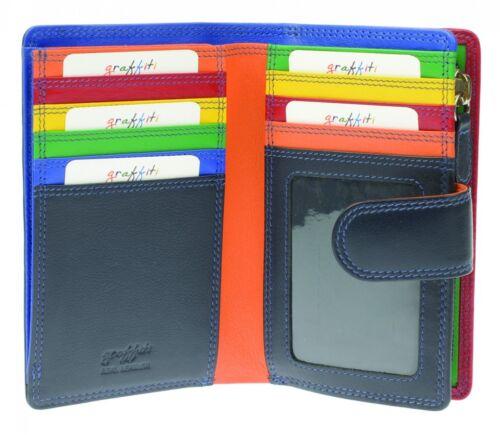 Graffiti//Golunski Medium Leather Tab Purse Style 7141 Colour various New rfid
