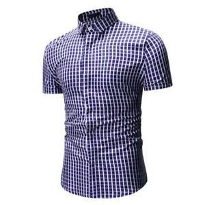 Slim-fit-short-sleeve-t-shirt-floral-stylish-luxury-formal-dress-shirt-summer