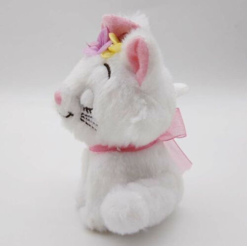 the Aristocats Marie Cat Plush Keychain Pink Flower Valentine Disney Store Japan