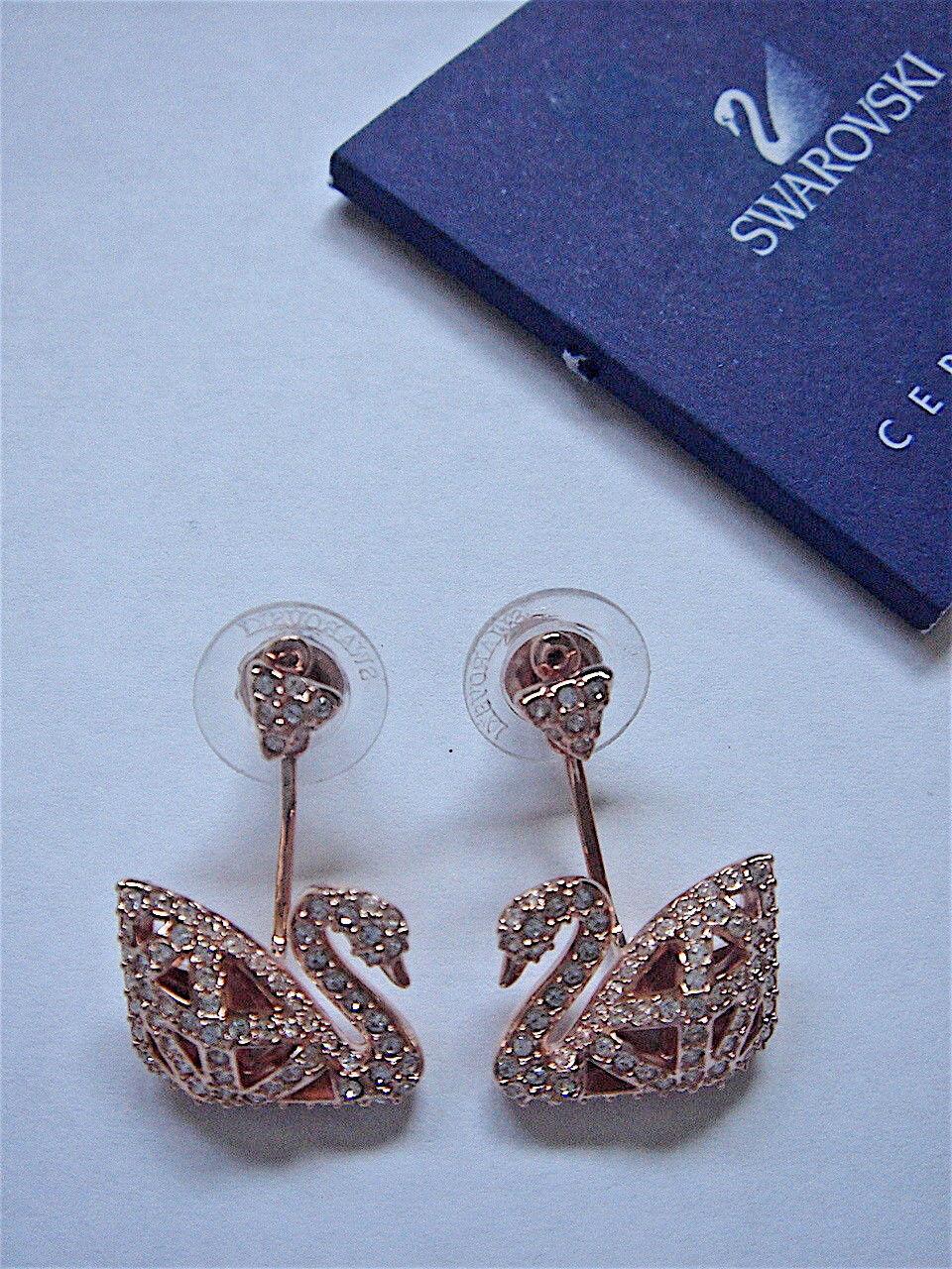 Swarovski FACET SWAN Pierced Earrings