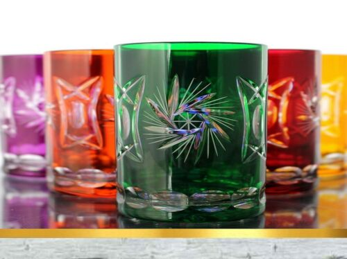 298ST farbig sort Kristall Whiskygläser Römer Bleikristall Whisky Gläser 6x