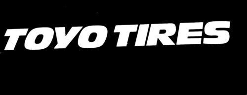 2x Toyo Tires Logo Vinyl Decal Sticker 61135z