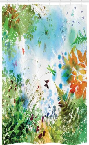 Libelle Schmaler Duschvorhang blühend Natur