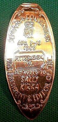 PA Elongated QUARTER KIR-133 SAY HELLO TO SALLY KIRKA 98th ANA PITTSBURGH