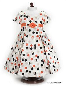 Doll-Clothes-18-034-Dress-Vintage-Polka-Dot-Carpatina-Fits-American-Girl-Dolls