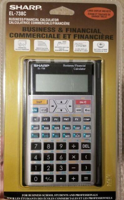 Sharp EL-738C Business and Financial Calculator