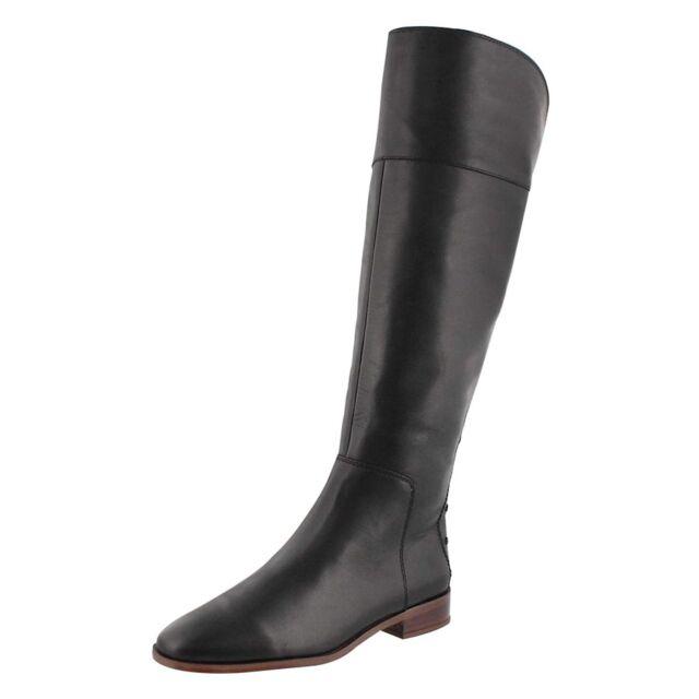 9b5c481c165c Franco Sarto Roselle Women s Black Leather Tall High BOOTS Sz. 7 M ...
