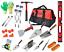 """Bricklayer Tool Kit,Brick Hammer Bolster,Trowels,Bag Complete Kit 24/"""" Level"""