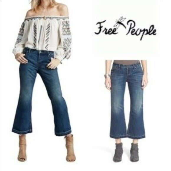 "Free People cropped flared jeans 24"" inseam crop"