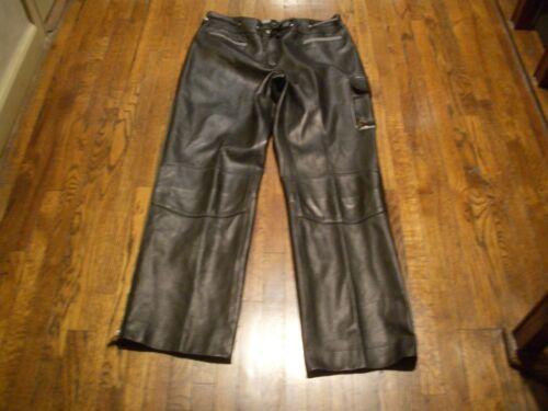 J in Pantaloni 8 in Pliner Sz Amazing con dettagli morbida nero Burro Donald pelle tessuto 17vUAxqw5