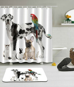 Image Is Loading Dog Puppy Cat Bathroom Mat Waterproof Polyester Fabric