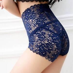 Women-Seamless-Lace-High-Waist-Underwear-Ladies-Brief-Knicker-Panty-t