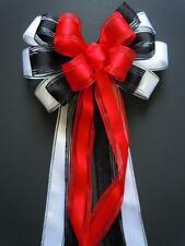 Red Black White Wedding Aisle Decoration Red Black Wreath Bow Birthday Gift Bow
