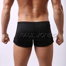 Mens Underwear Boxer Briefs Shorts Low Rise Underpants Penis/Bulge Pouch Trunks