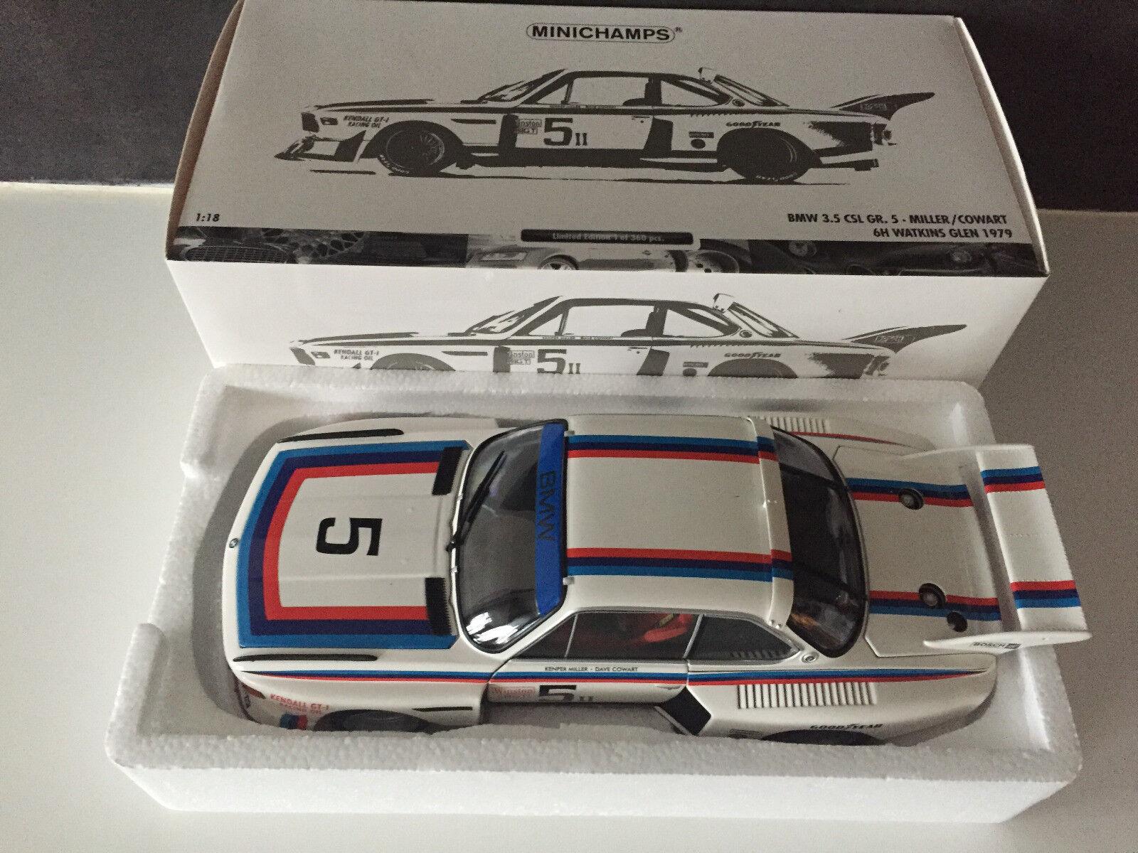 BMW 3.5 L CSL Groupe 5 Watkins Glen 1979 Minichamps 1 18