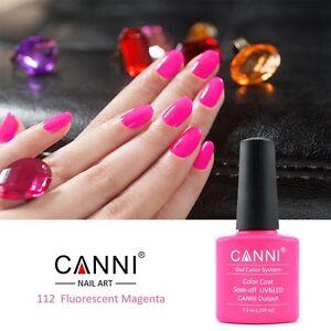 112 canni fluorescent magenta neon pink rose uv led soak off gel image is loading 112 canni fluorescent magenta neon pink rose uv prinsesfo Image collections